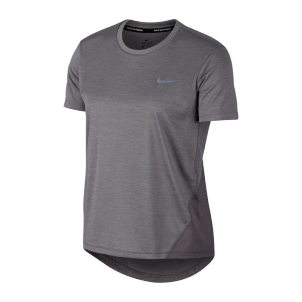 Nike Miler Short Sleeve Women's Running Tee - Gunsmoke Front