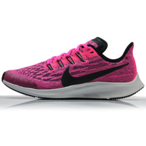 Nike Zoom Pegasus 36 Junior Running Shoe - Pink Blast/Black-Vast Grey Side