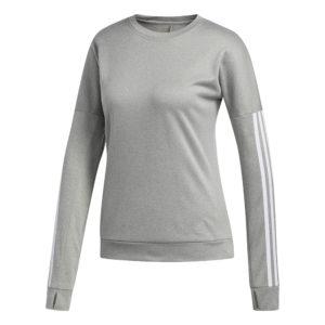 Adidas Run It Women's Long Sleeve grey heather front