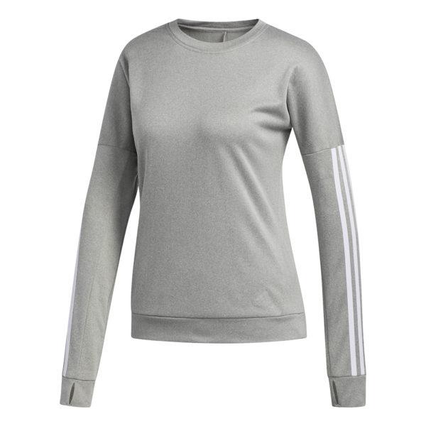 Adidas Run It Women's Long Sleeve grey heather front