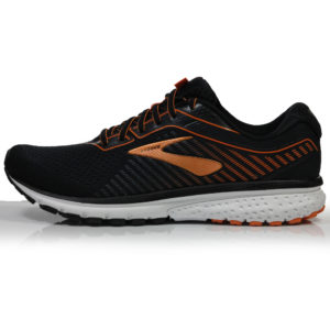 Brooks Ghost 12 Men's Running Shoe black orange side