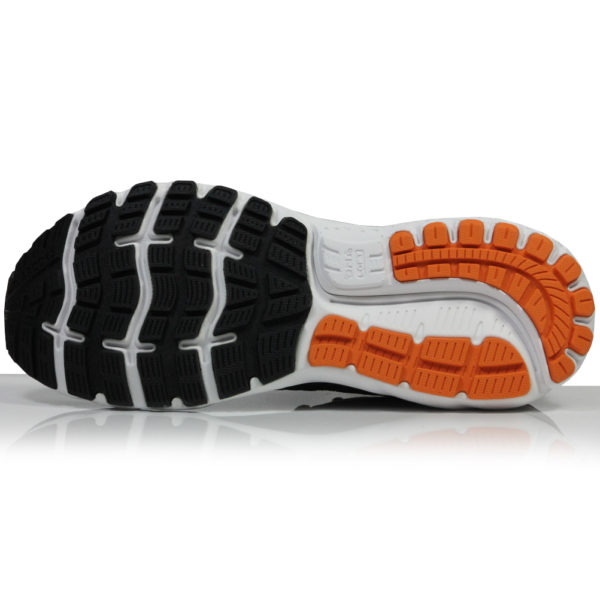 Brooks Ghost 12 Men's Running Shoe black orange sole