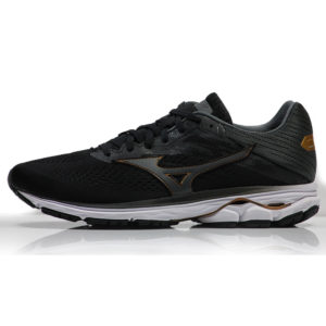 Mizuno Wave Rider 23 Men's Running Shoe- Black/Dark Shadow Black Side