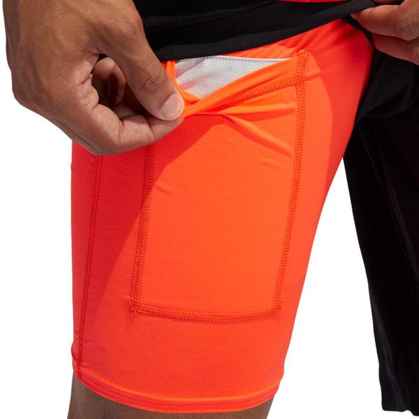 Adidas Own The Run 2in1 5inch Men's Running Short black solar red inner short