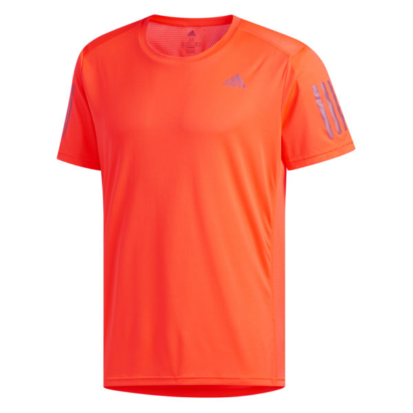 adidas Own The Run Short Sleeve Men's solar red front
