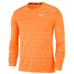 Nike Miler Long Sleeve Men's alpha orange front