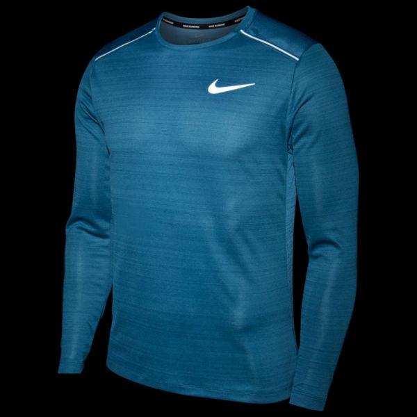 Nike Miler Long Sleeve Men's thunderstorm reflect front