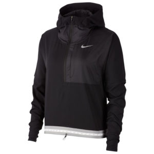 Nike Lightweight Women's Running Jacket - Black/Reflective Silver Front