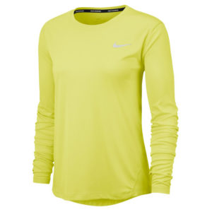 Nike Miler Long Sleeve Women's Running Tee limelight front
