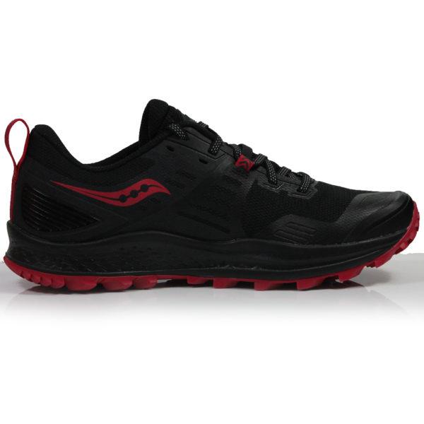 Saucony Peregrine 10 Women's Trail Shoe - Black/Barberry Back