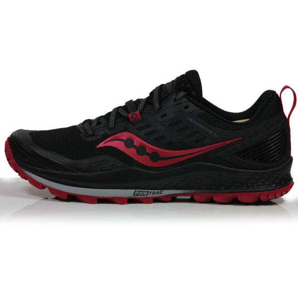 Saucony Peregrine 10 Women's Trail Shoe - Black/Barberry Side