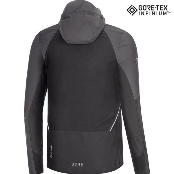 Gore Wear R7 Partial Gore-Tex Infinium Men's Running Jacket black back
