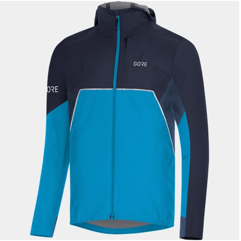 Gore Wear R7 Partial Gore Tex Infinium Men's Running Jacket Dynamic CyanOrbit Blue