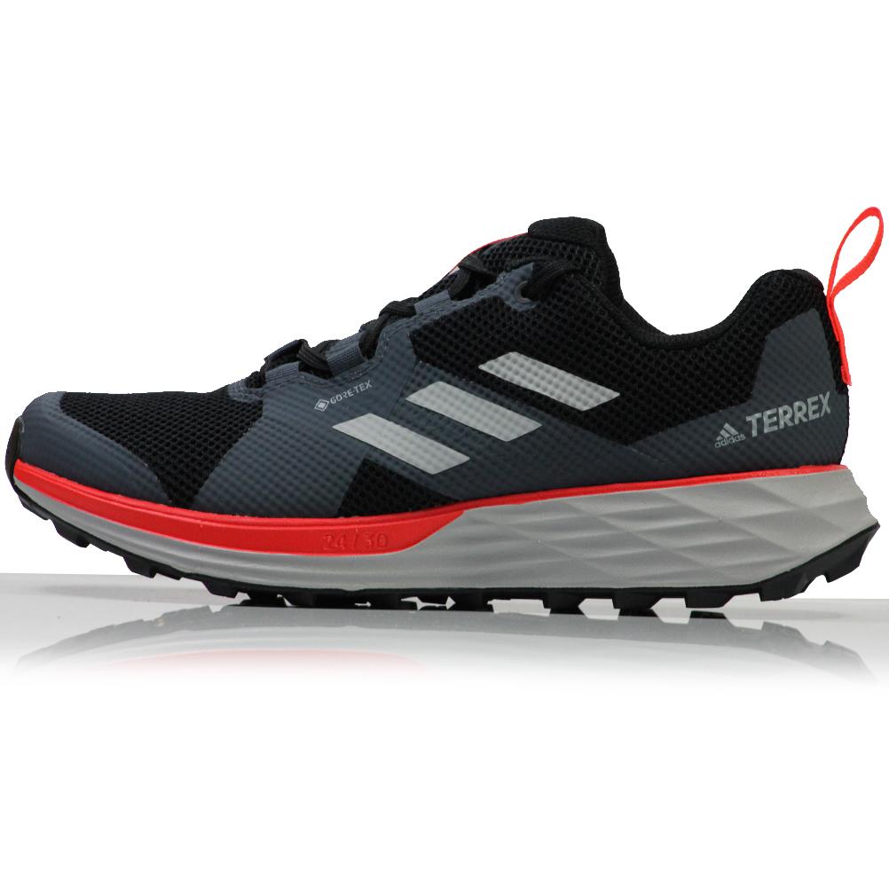 adidas Terrex Two GTX Men's Trail Shoe - Core Black/Grey Two/Solar ...