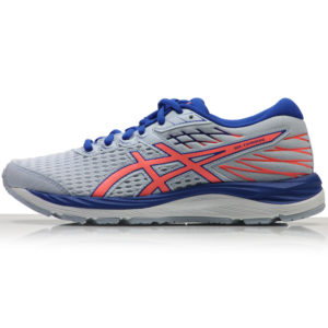 Asics Gel Cumulus 21 Junior Running Shoe - Soft Sky/Sun Coral Back