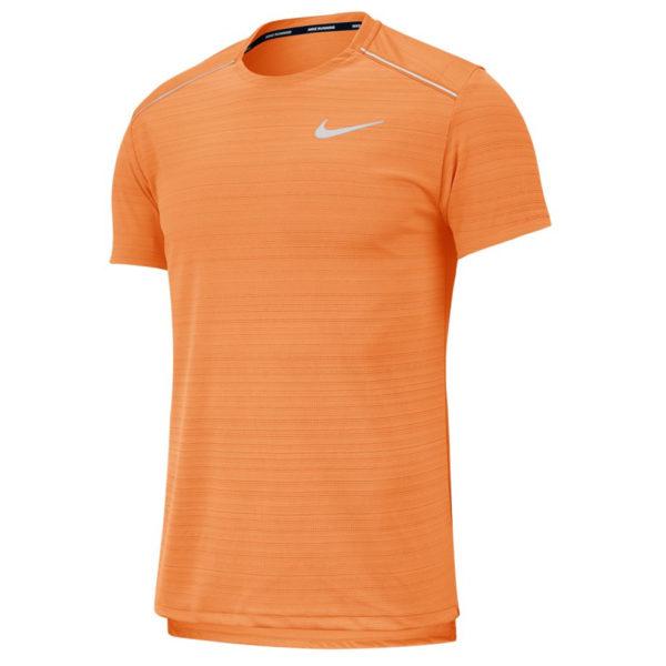 Nike Miler Short Sleeve Men's Running Tee - Alpha Orange