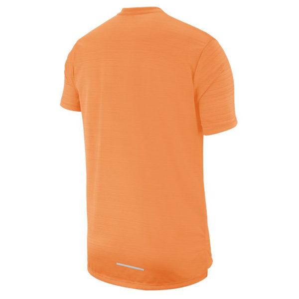 Nike Miler Short Sleeve Men's Running Tee - Alpha Orange Back