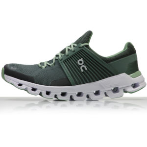 on cloudswift men's running shoe green side