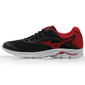 Mizuno Wave Rider 23 Junior black red side