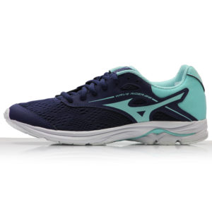 Mizuno Wave Rider 23 Junior blue side