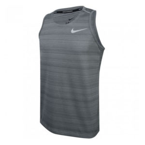 Nike Dry Miler Men's Running Tank smoke grey front