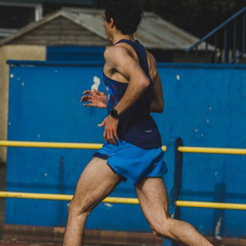 Black Ronhill Core Split Mens Running Shorts
