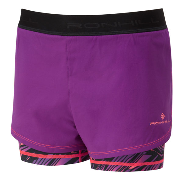 Ronhill Momentum Twin Women's Running Short grape front