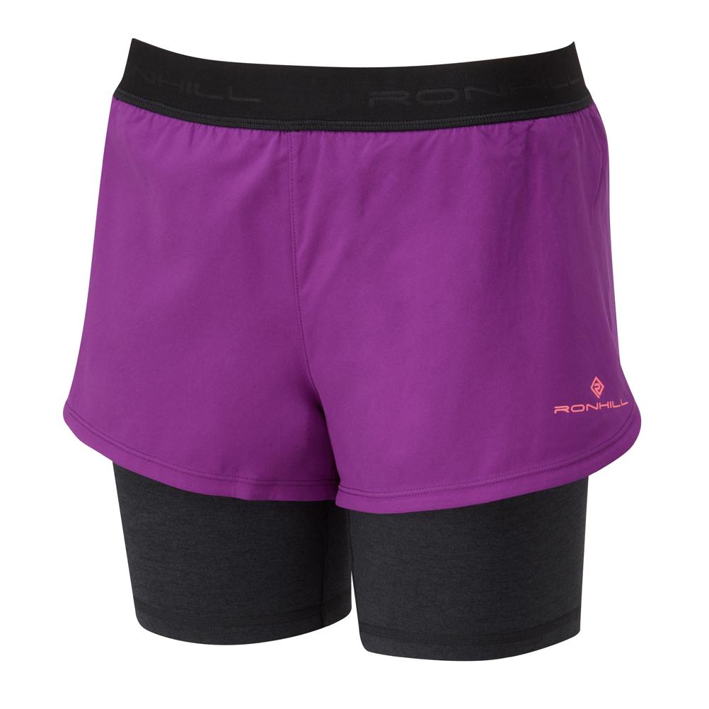 Ronhill Stride Twin Femme Shorts de course-gris