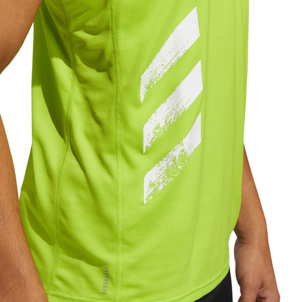 adidas Own the Run 3-Stripes PB Men's Running Singlet Side Model