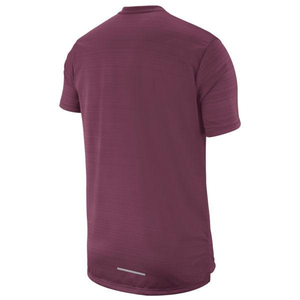 Nike Men's Miler Short Sleeve villain red back