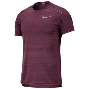 Nike Men's Miler Short Sleeve villain red front