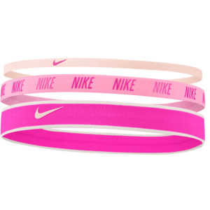 Nike Mixed Width Headbands 3 Pack pink
