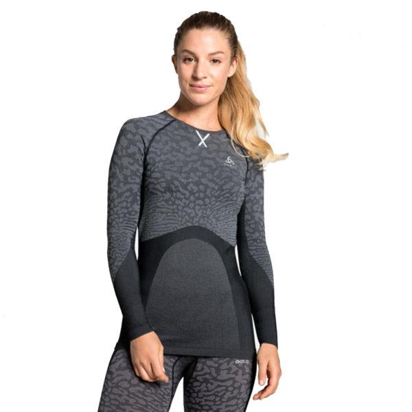 Odlo Performance Blackcomb Crew Warm Women's Long Sleeve Model Front