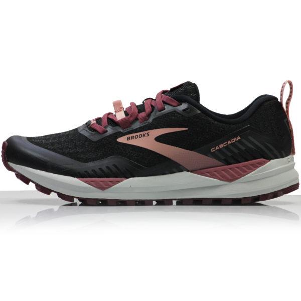 Brooks Cascadia 15 Women's Trail Shoe black ebony side