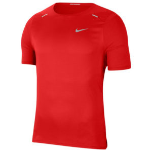 Nike Rise 365 Men's Short Sleeve Chile red front