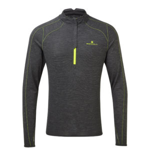 Ronhill Tech Thermal Halfzip Long Sleeve Men's charcoal front