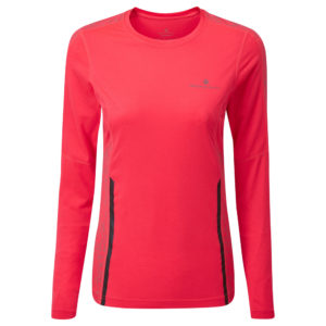 Ronhill Life Nightrunner Long Sleeve Women's hot pink front