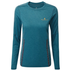 Ronhill Life Nightrunner Long Sleeve Women's legion blue front