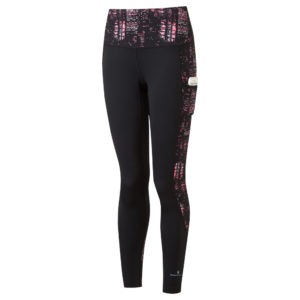 Ronhill Life Sculpt Women's Running Tight hot pink nightscape front