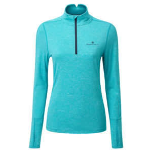 Ronhill Tech Thermal Halfzip Long Sleeve Women's spa green front