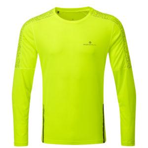 Ronhill Life Nightrunner Long Sleeve Men's fluorescent yellow front
