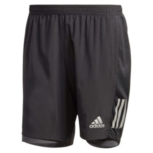 Adidas Own The Run 2in1 5inch Men's black grey front
