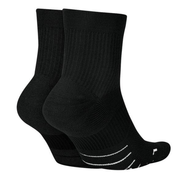 Nike Multiplier Unisex 2 Pack Running Sock Back
