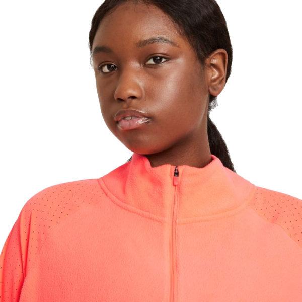 Nike Air Midlayer Women's Running Top bright mango zip