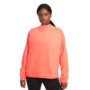 Nike Air Midlayer Women's Running Top bright mango front