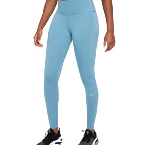 Nike Epic Luxe Women's Running Tight blue front