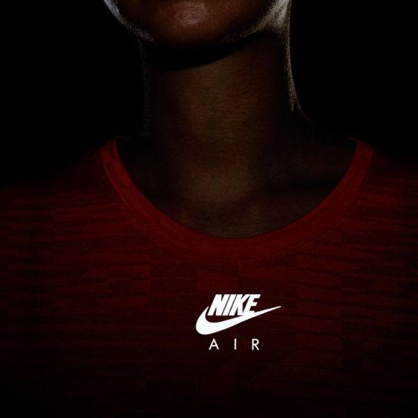 Nike Air Short Sleeve Women's Running Tee turf orange flash