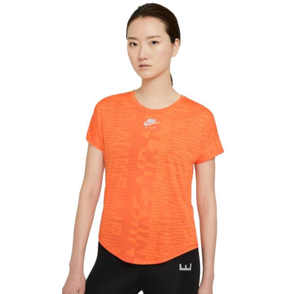 Nike Air Short Sleeve Women's Running Tee turf orange front