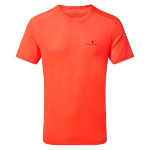 Ronhill Tech Short Sleeve Men's Running Tee hot coral front