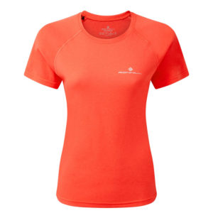 Ronhill Core Short Sleeve Women's Running Tee hot coral front